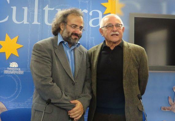 6 Alfredo Pérez Alencart y Pío E. Serrano, en la Sala de la Palabra (foto José Amador, 2014)