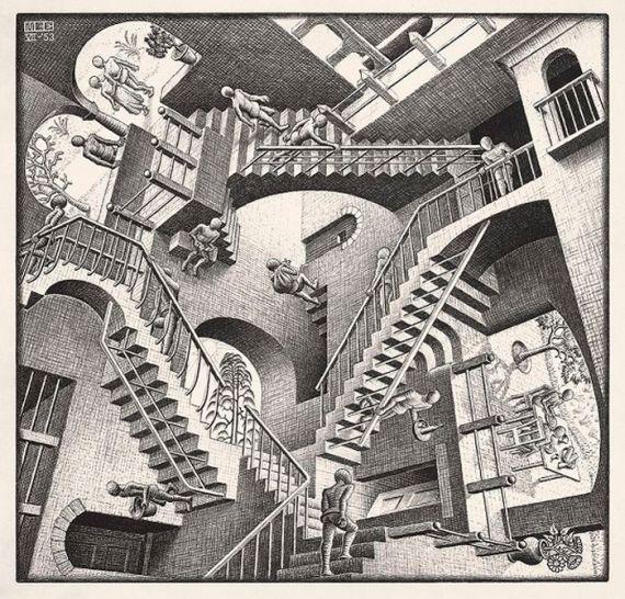 7 Relatividad, de Escher