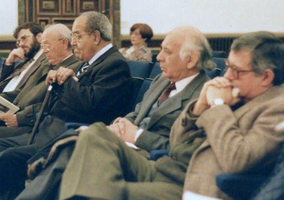 Pío Serrano, Meneses, Baquero, Ortega y Alencart (Salamanca, 1993. Fotografía de Jacqueline Alencar)