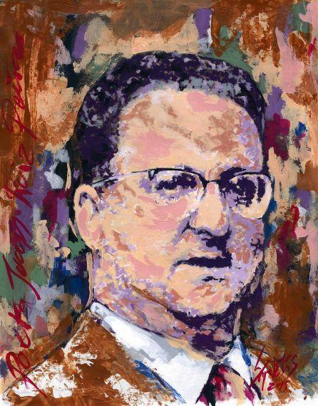 1 El poeta Juan Ruiz Peña retratado por Miguel Elías