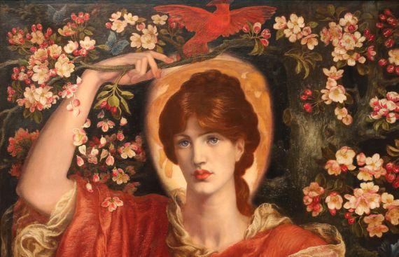 4 Fiammetta de Boccaccio, pintura de Dante Gabriel Rossetti