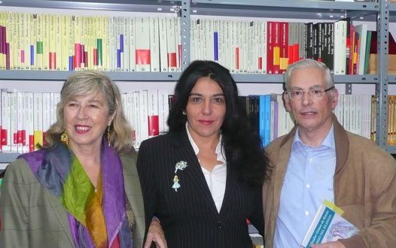 4 María Antonia García de León, Alicia Arés y Salvador Gómez de Simón