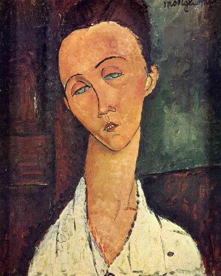5 Retrato de Lunia Czechowska, de Amedeo Modigliani