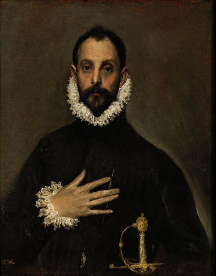 7 El caballero de la mano en el pecho, de El Greco