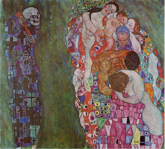 10 Vida y muerte, de Gustav Klimt