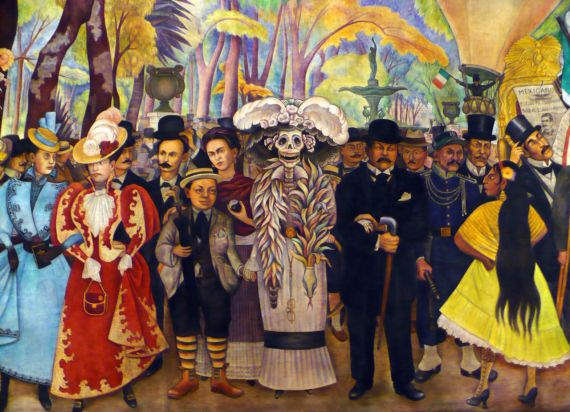 11 Sueño de una tarde dominical en la Alameda Central, de Diego Rivera (Fragmento)(1947)
