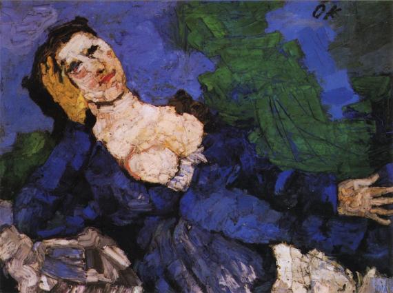 3 Frau in Blau (Mujer en azul), de Oskar Kokoschka