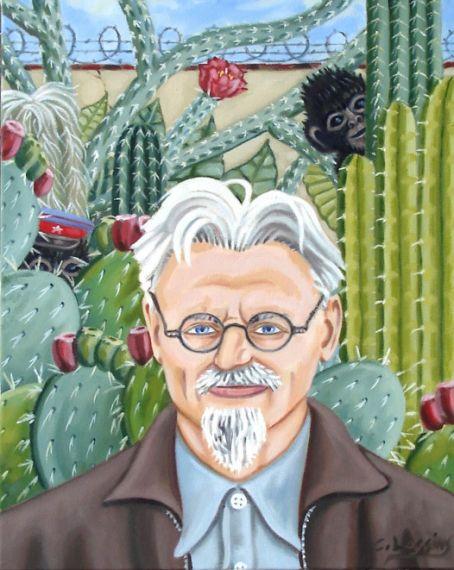 3 Retrato de Trotsky, de Frida Khalo