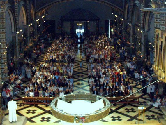 5 Funeral de Salvador Pániker en la Abadía del monasterio de Montserrat