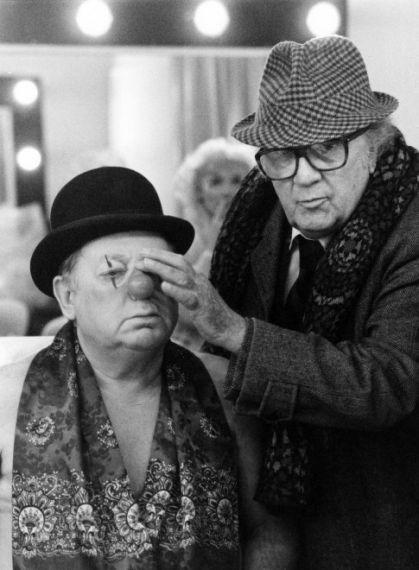 5 Paolo Villaggio y Federico Fellini