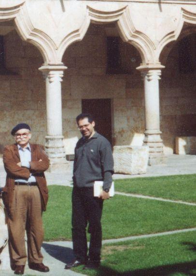 6 Manuel Caballero y Lázaro Álvarez en Salamanca (foto de Jacqueline Alencar)