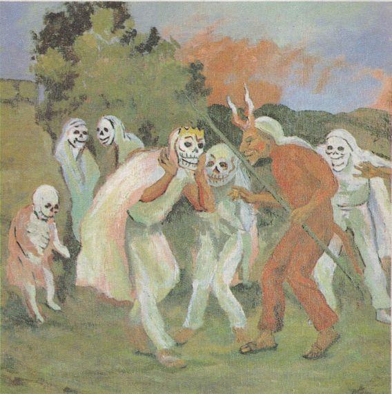 9 La Muerte embarazada, baila con el Diablo, de Arturo García Bustos