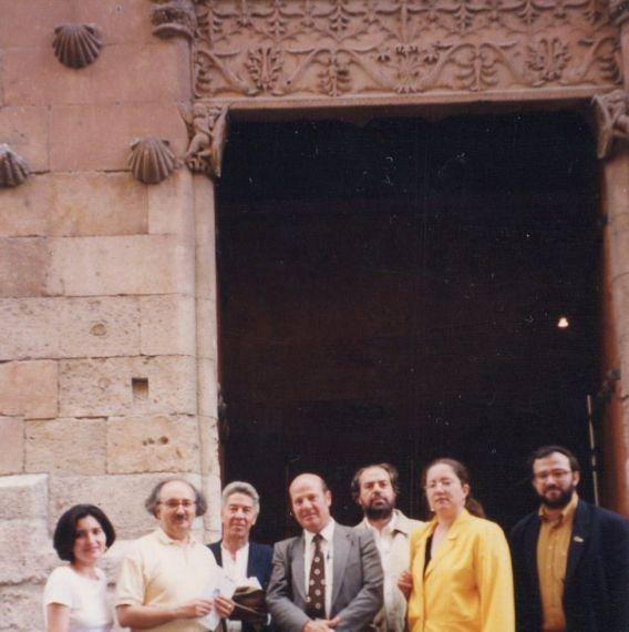 11 Jacqueline Alencar, Antonio Colinas, Igor Colina, Sambra y su esposa, Felipe Lázaro y A. P. Alencart