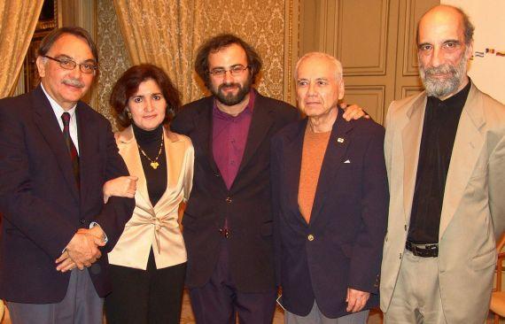 12 Eugenio Montejo, Jacqueline Alencar, Alfredo Pérez Alencart, Pompeyo del Valle y Raúl Zurita ( Cumbre Poética Iberoamericana, Salamanca, 2005)