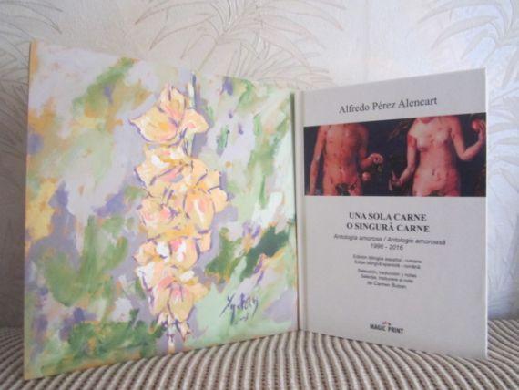 12 Pintura de Miguel Elías con la portada del libro, también obra suya