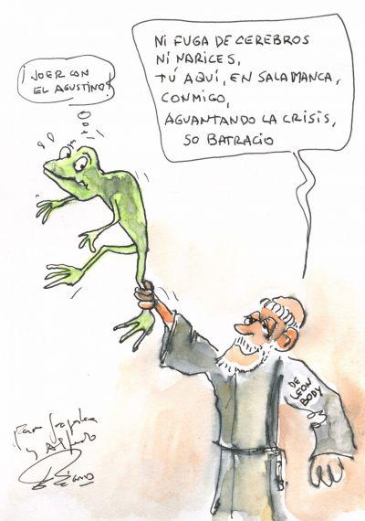 3 Caricatura de Enrique Gracia Trinidad, dedicada en Salamanca a Jacqueline y A. P. Alencart