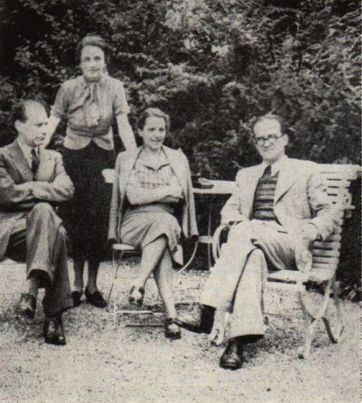 4 Lucian Blaga & Mircea Eliade (Con Cornelia Good y Nina Eliade). en Suiza