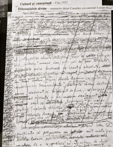 5 Manuscrito de Lucian Blaga