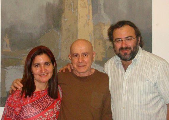 7 Hugo Mujica con Jacqueline Alencar y A. P. Alencart, en Salamanca