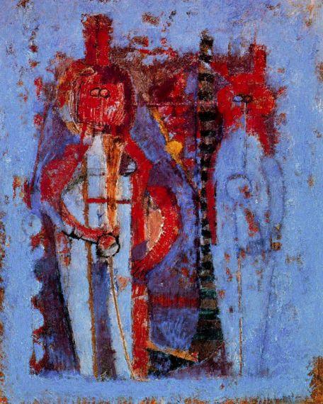 3 Dos figuras en azul, de Rufino Tamayo