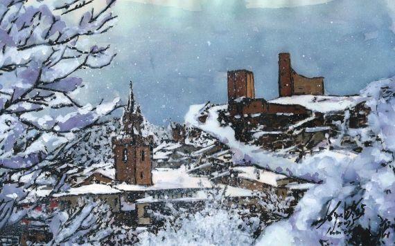 3 Pueblo nevado, de Miguel Elías