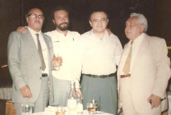 4 Alí Lameda, Gabriel Jiménez Emán, Alirio Díaz y Elisio Jiménez Sierra (Atenas, Grecia, 1985)