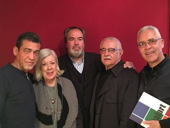 4 León de la Hoz, Teresa García, Felipe Lázaro, Pío E. Serrano y Efraín Rodríguez Santana