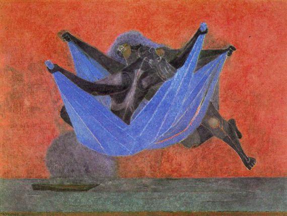 5 Danzantes frente al mar, de Rufino Tamayo