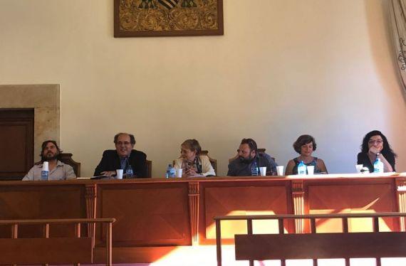4 Michel, Antonio López Ortega, Carmen Ruiz Barrionuevo, Juan Pablo Gómez Cova, Mª. Ángeles Pérez López y Francisca Noguerol