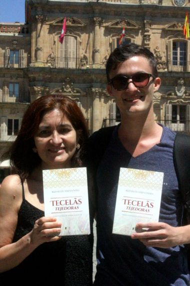 9 Jacqueline Alencar y Leonam Cunha, en la Plaza Mayor de Salamanca