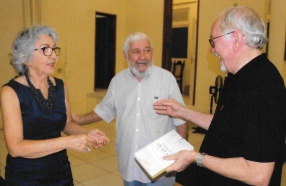 Con el periodista Woden Madruga y el profesor y escritor Tarcísio Gurgel