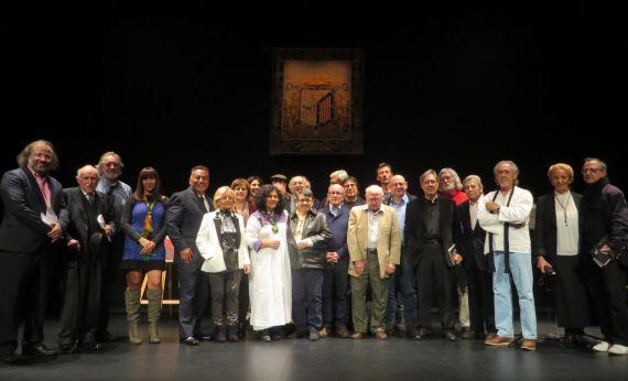 1 Poetas en el escenario de Teatro Liceo. Jornada inaugural (Foto de José Amador Martín)