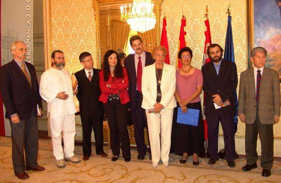 14 Sylvester, Bartolomé, Zamarreño, Noguerol, Fernández Labrador, Ana Ilce Gómez, Alencart y Shimose (foto de J. Alencar)