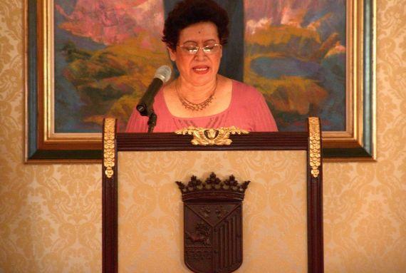 15 Otra imagen de Ana Ilce Gómez en el Ayuntamiento de Salamanca (foto de Jacqueline Alencar)