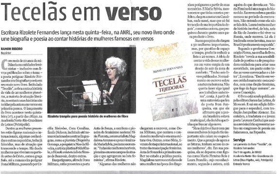 15 Tecelas - Tejedoras, de Rizoletes Fernandes, traducido por Jacqueline Alencar