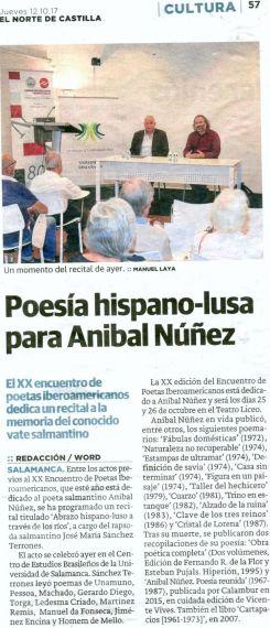 21 XX Encuentro (Recital de J. M. Sánchez Terrones (El Norte de Castilla)