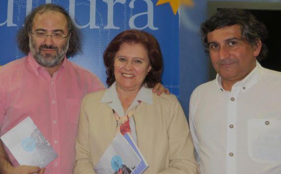 3 A. P. Alencart, Leocádia Regalo y el editor Joao Artur Pinto (foto de Jacqueline Alencar)