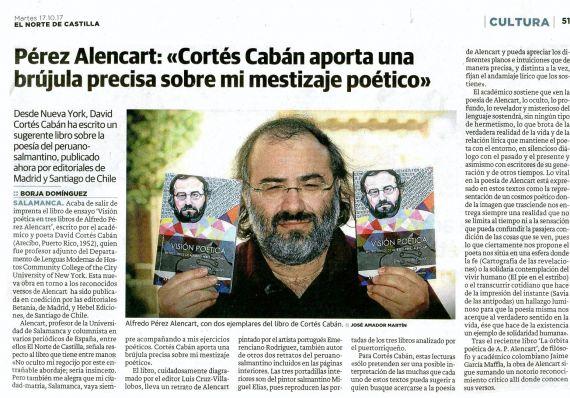 3 Declaraciones de A. P. Alencart (El Norte de Castilla)