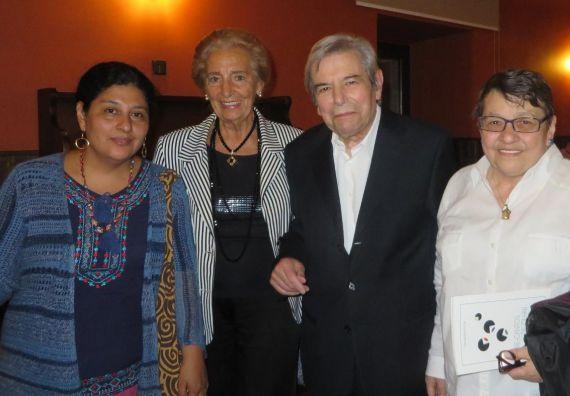 4 Paura Rodríguez Leytón, Pilar Fernández Labrador, António Salvado y Lilliam Moro