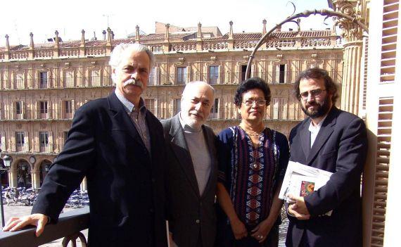 6 Santiago Sylvester (Argentina), Reinaldo Valinho (Brasil), Ana Ilce Gómez y A. P. Alencart (Foto de Jacqueline Alencar)
