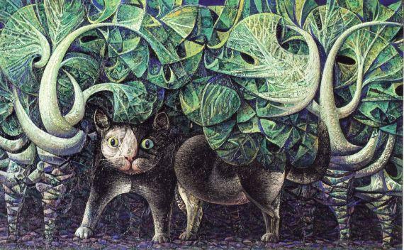 2 Gato en la noche, de Antonio Pedrero