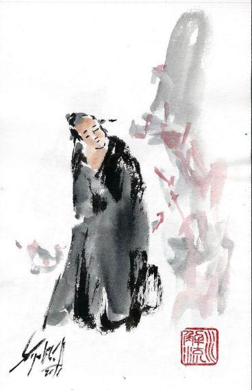 3 Pintura Sumi-E de Miguel Elías