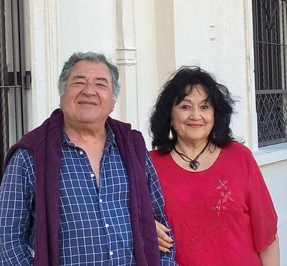 7 Eduardo Dalter y Amelia Arellano, en la estación de San Luis