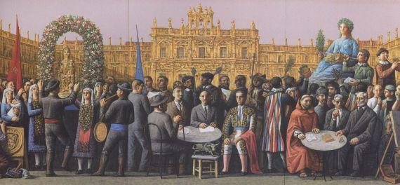 1 En la Plaza Mayor de Salamanca, de Antonio Pedrero