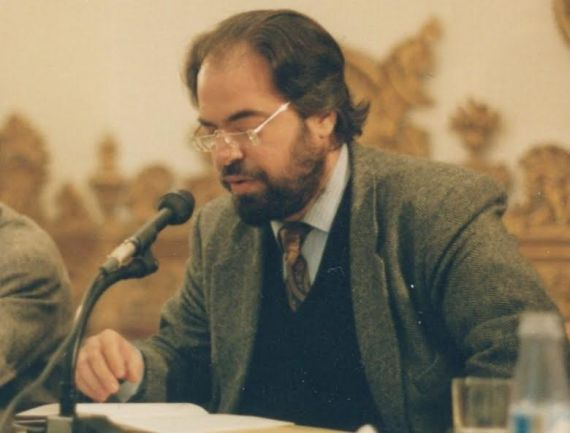 1 Felipe Lázaro en Salamanca, durante el homenaje internacional a Gastón Baquero (1993, fotografía de Jacqueline Alencar)