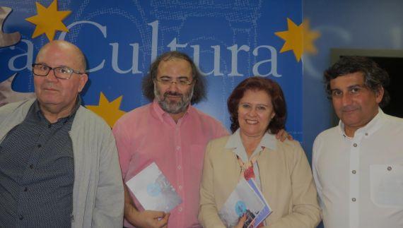 5 Oliveira, Alencart, Regalo y Pinto, en la presentación del poemario (foto José Amador Martín)