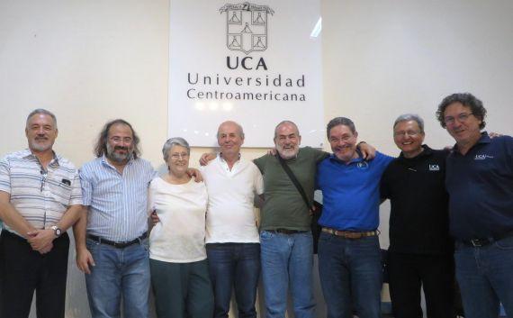 11Castro, Alencart, Najlis, Coco, Sauma, Avilés, Idiáquez y González, en la UCA de Managua