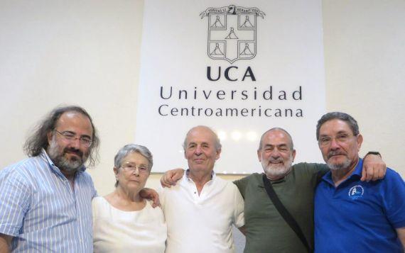 12 Alencart, Najlis, Coco, Sauma y Avilés, en la Universidad Centroamericana