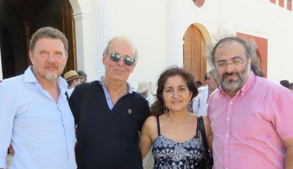 5 Walter Raffaelli, Emilio Coco, Jacqueline Alencar y Alfredo Pérez Alencart, en Granada