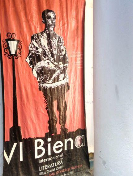 6 Cartel de la bienal que lleva el nombre de David Elías Curiel